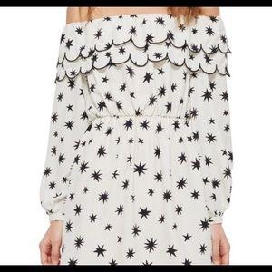 NWT Topshop off the shoulder star dress.  Sz 8